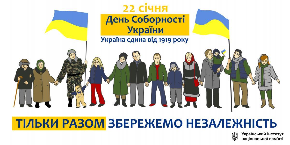 22 січня – День Соборності України. Інформаційні матеріали | Офіційний  веб-сайт УІНП